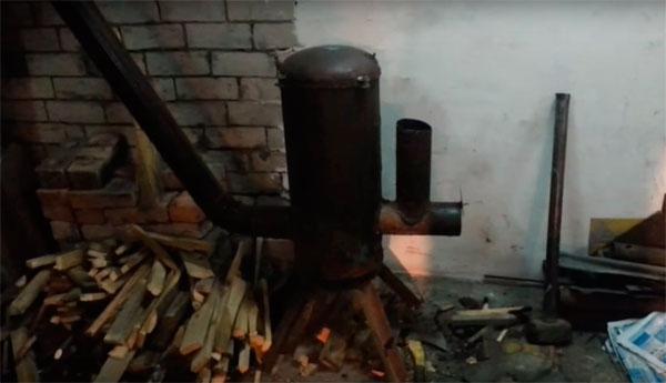 ракетная печь самодельная