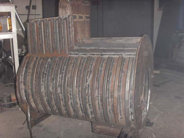 самодельная печь металлическая
