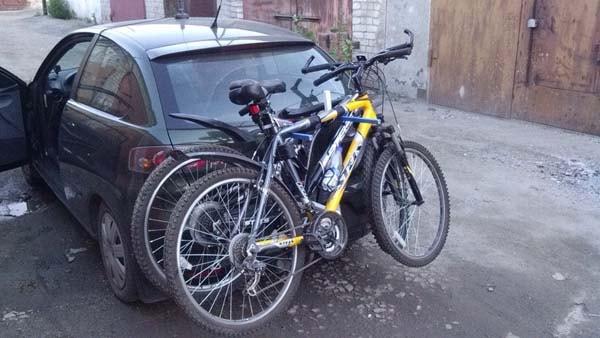 Крепление для велосипеда на фаркоп машины фото
