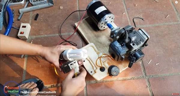 самодельный бензиновый генератор подробно