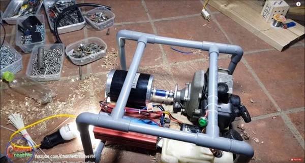 бензогенератор из бензокосы