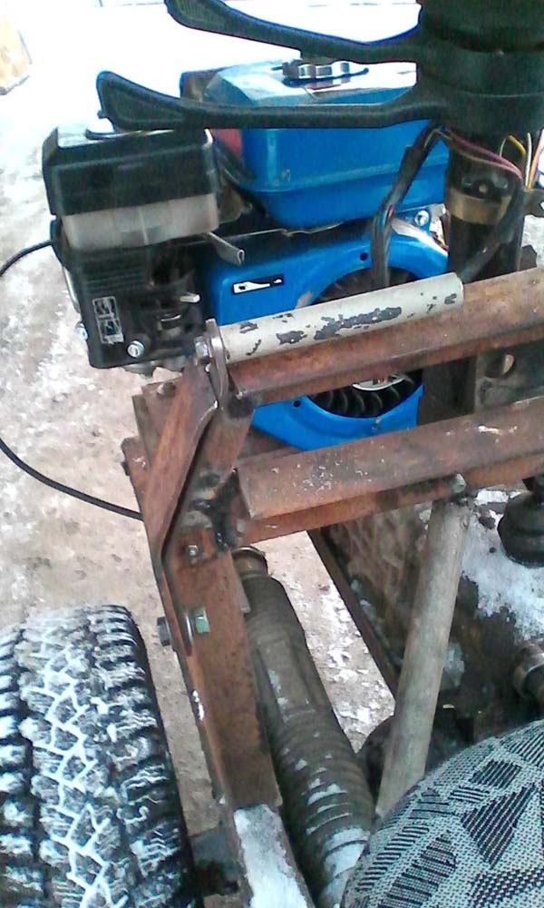 Самодельная трактор 327