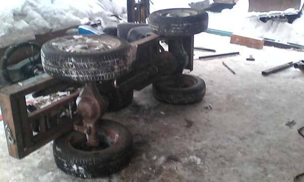 мини трактор самоделка