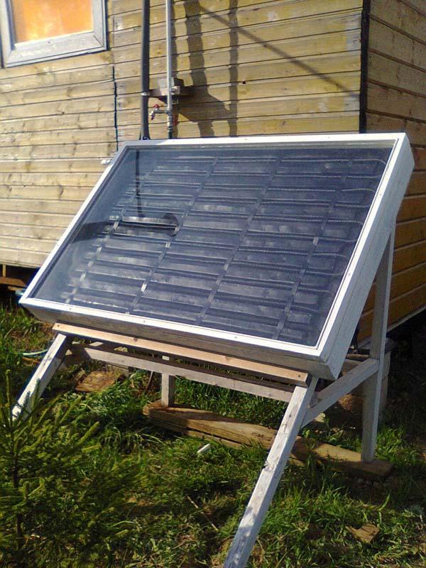 солнечный коллектор самодельный
