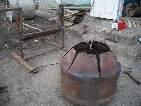 бетономешалка из бочки