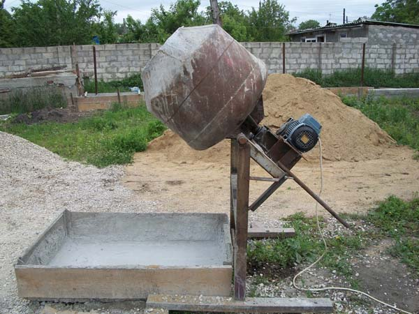 самодельная бетономешалка из бочки