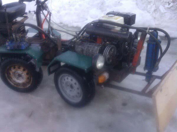 трактор с переломной рамой