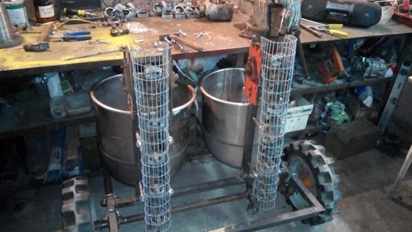 Самодельная картофелесажалка для минитрактора пошаговое изготовление