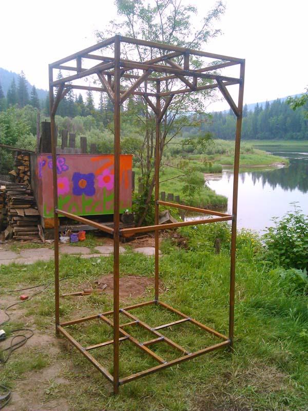 строим летний душ фото