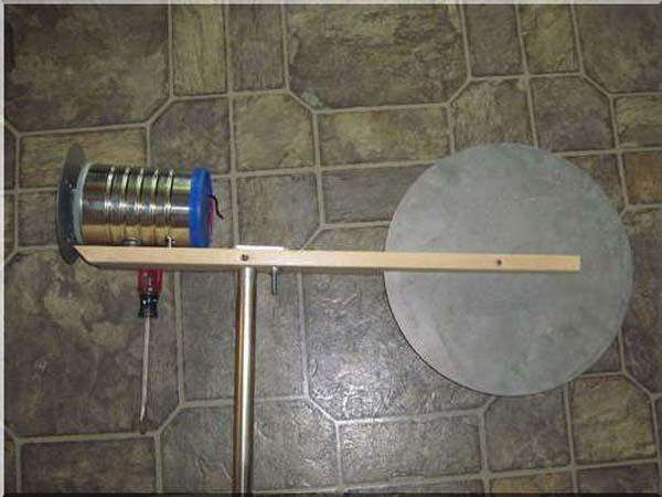 Ветрогенератор из шуруповёрта фото