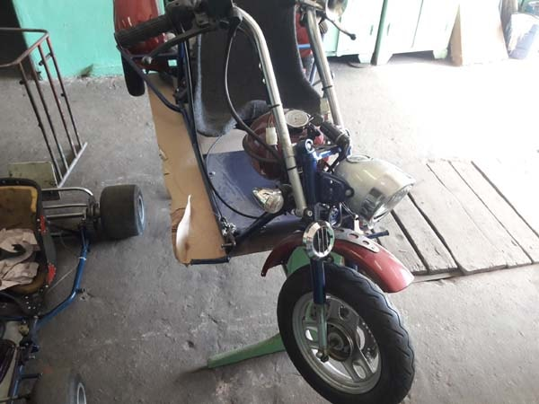 самодельный трицикл из скутера