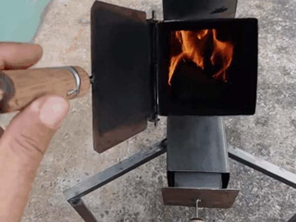 самодельная печка для дачи