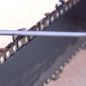 заточить цепь бензопилы