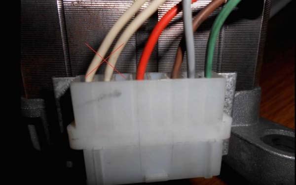 разъём подключения двигателя стиральной машинки