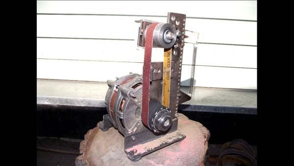 шлифовальный станок из двигателя от стиральной машины