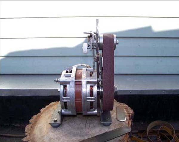 Самодельный шлифовальный станок из двигателя от стиральной машины