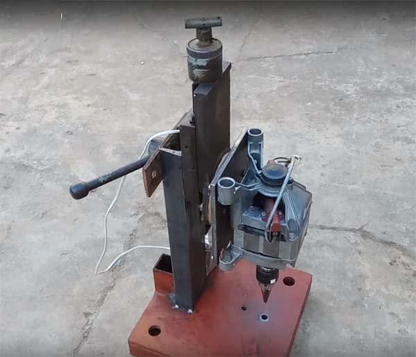 Сверлильный станок из двигателя от стиральной машины