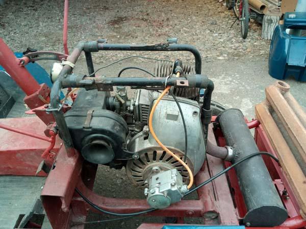 самодельный трактор из мотороллера