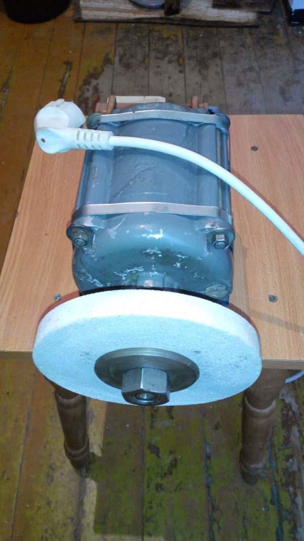 Наждак сделанный из двигателя стиральной машины
