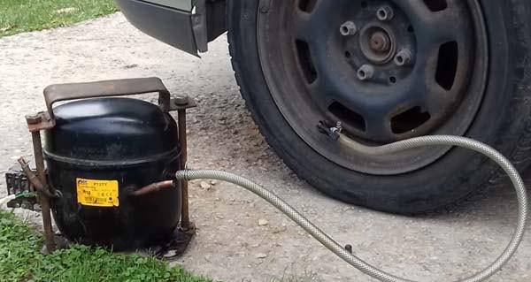 самодельный компрессор для накачивания шин