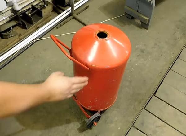 печь из огнетушителя
