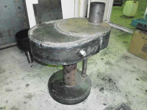 Печь на отработке с водяным контуром фото