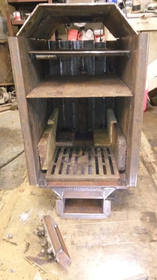 печь для отопления гаража самодельная