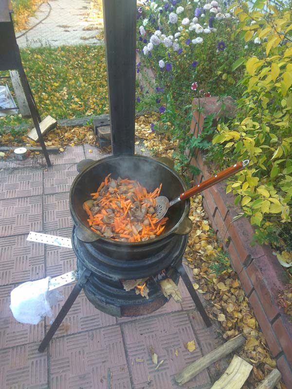 печка под казан