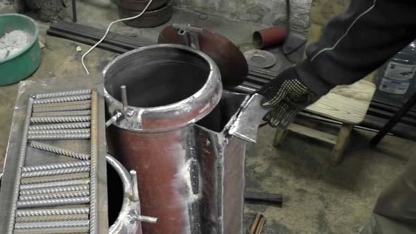 как сделать печку из газовых баллонов