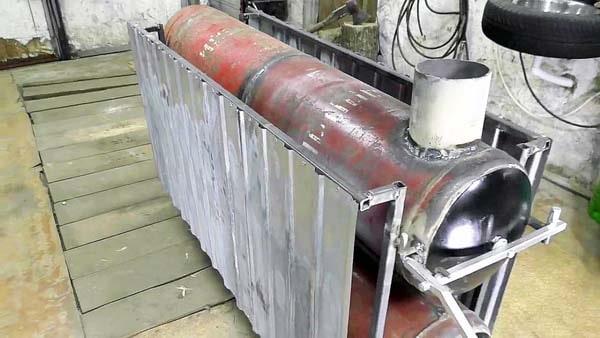 Печь из 4 х газовых баллонов