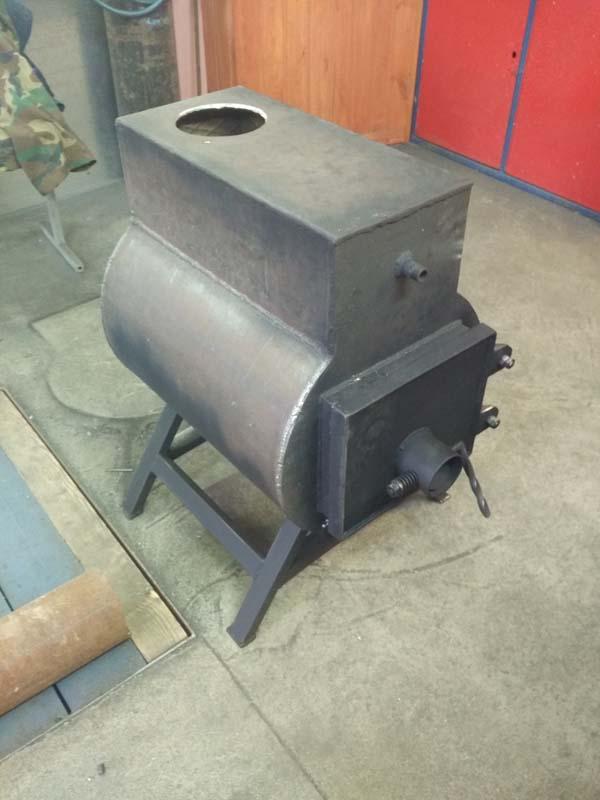 печка в гараж своими руками
