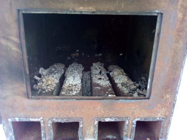 самодельная печь из металла