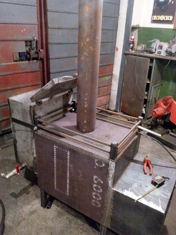 Печь для бани из металла