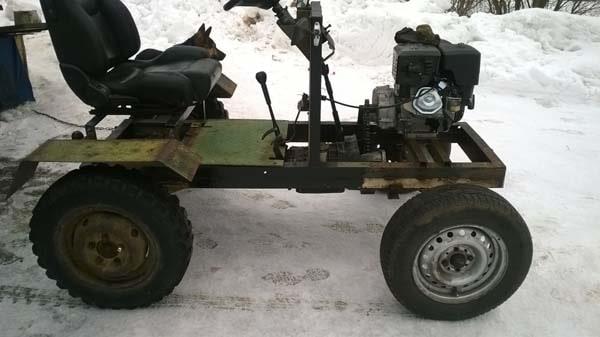 мой самодельный мини трактор