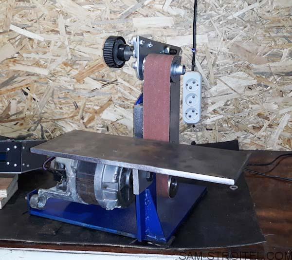 Самодельный ленточный шлифовальный станок