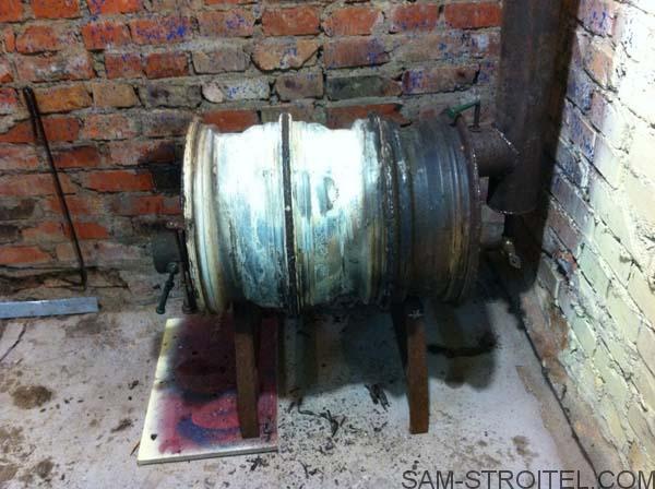 печка из колёсных дисков