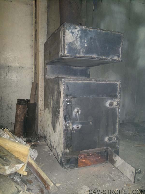 самодельная печь буржуйка