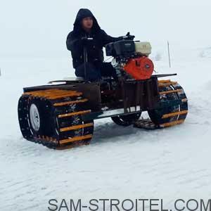 Гусеничный снегоход своими руками видео фото 7