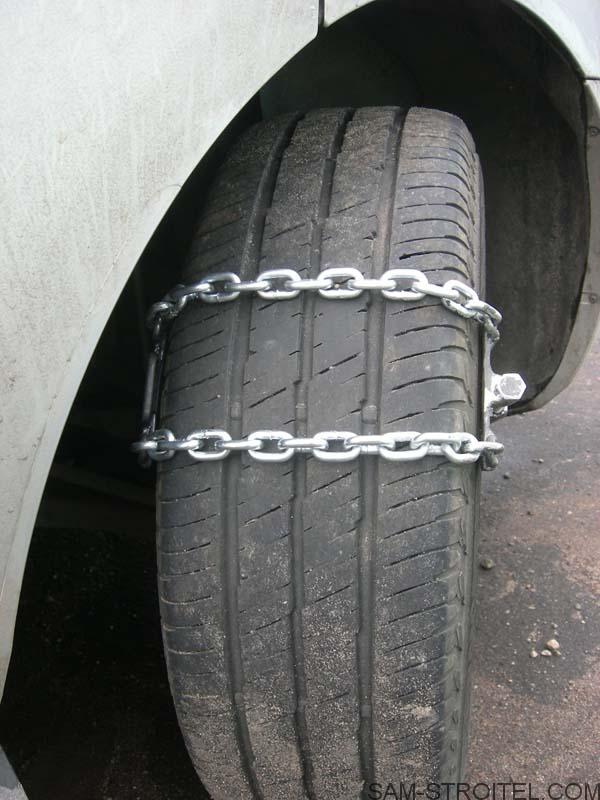 браслеты противоскольжения на колёса автомобиля