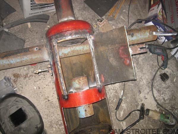 печка самодельная в гараж