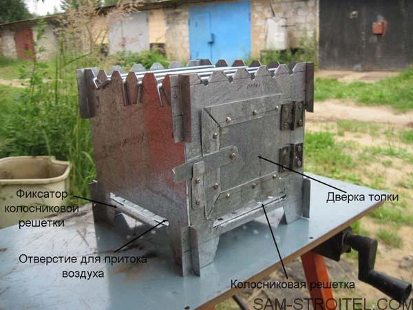 Печка щепочница самодельная