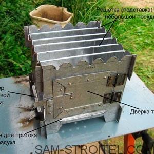 печка щепочница