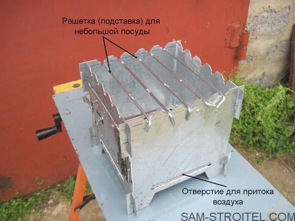 Печка щепочница подробное описание изготовления