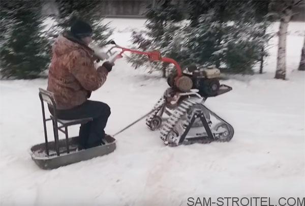 мотоблок снегоход