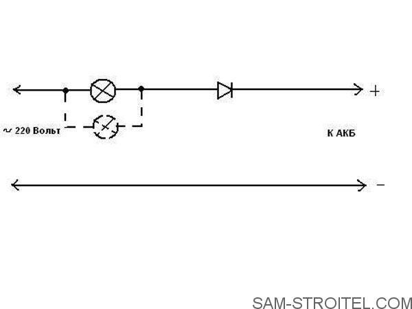 Простая схема зарядного устройства для аккумулятора