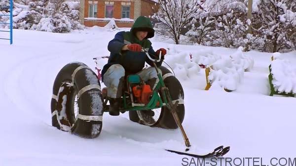 снегоход с двигателем бензопилы фото