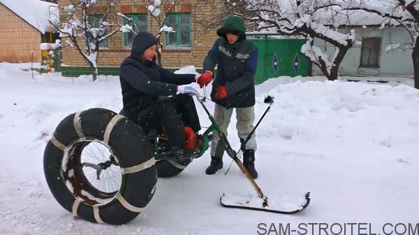 снегоход с двигателем бензопилы