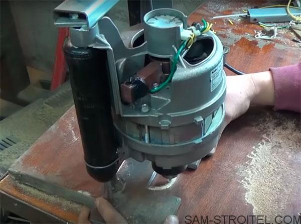 Фрезерный станок из двигателя от стиральной машины