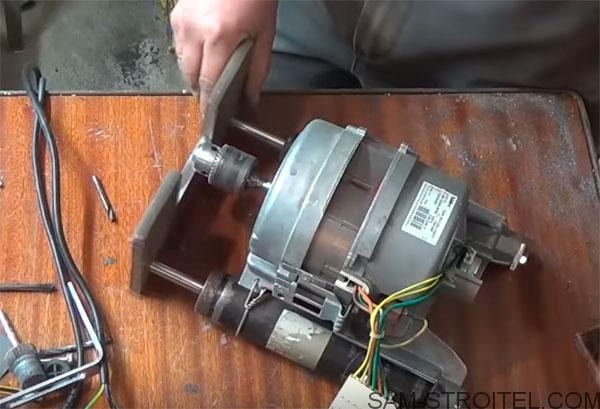 станок из двигателя стиральной машины