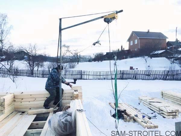 Подъемный кран для стройки
